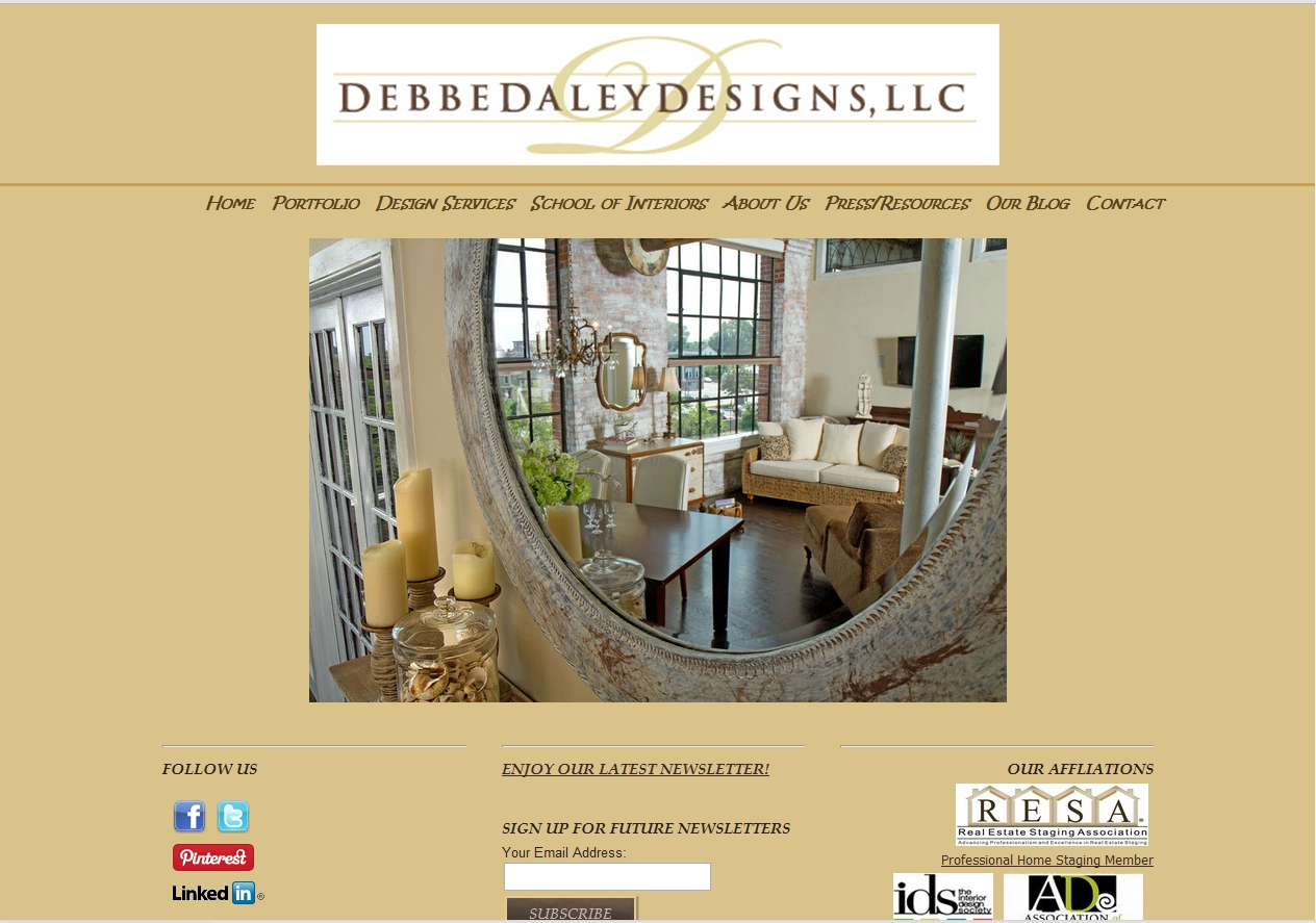 Debbe Daley Designs, LLC Website